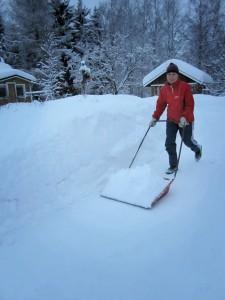 Talvella 2012 lunta riitti kolattavaksi.